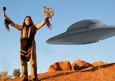 NATIVE WITH UFO